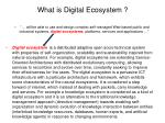 what is digital ecosystem