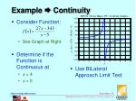 example continuity