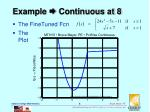 example continuous at 8