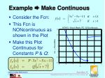 example make continuous