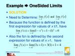 example onesided limits