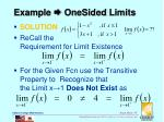 example onesided limits1