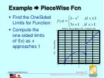 example piecewise fcn