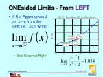onesided limits from left