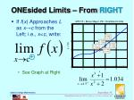 onesided limits from right