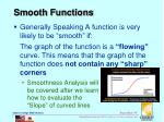 smooth functions