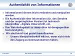 authentizit t von informationen