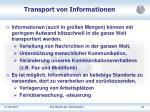 transport von informationen