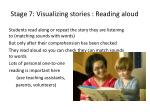 stage 7 visualizing stories reading aloud
