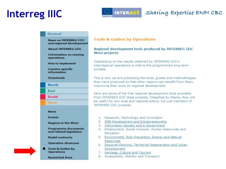 Interreg IIIC