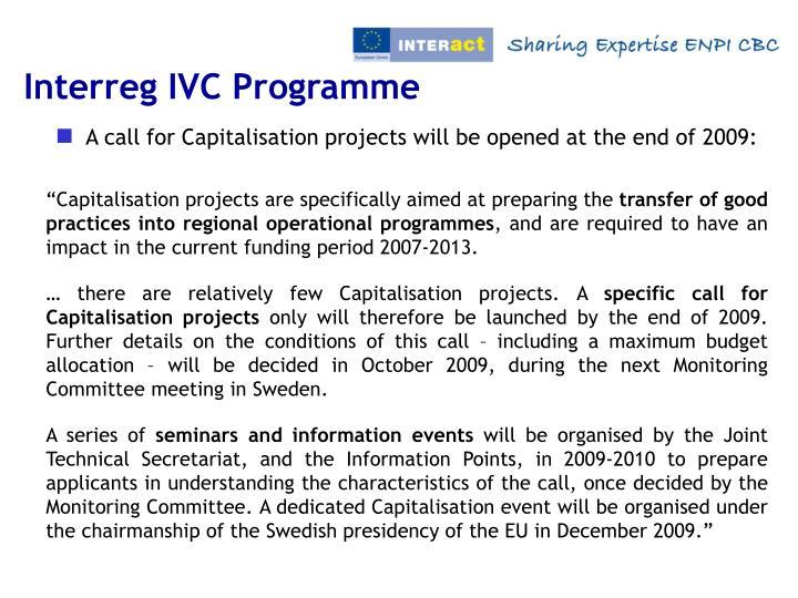 Interreg IVC Programme