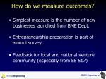 how do we measure outcomes