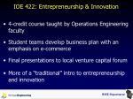 ioe 422 entrepreneurship innovation