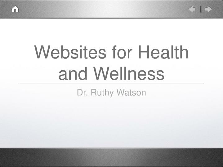 websites for health and wellness n.