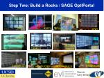 step two build a rocks sage optiportal