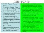 msn eof ii