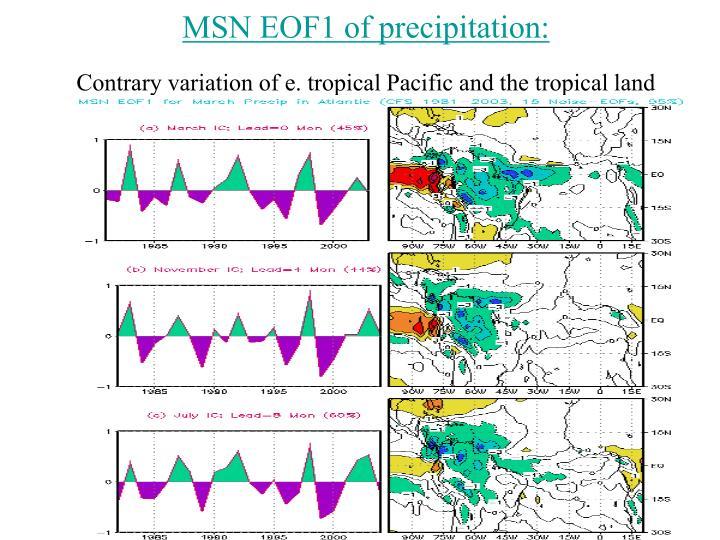MSN EOF1 of precipitation: