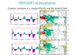 msn eof1 of precipitation contrary variation of e tropical pacific and the tropical land