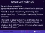 basic motivations