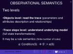 observational semantics