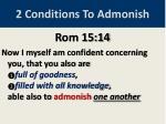 2 conditions to admonish