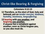 christ like bearing forgiving