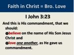faith in christ bro love