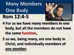many members one body