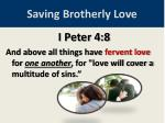 saving brotherly love