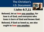the christian s i d document
