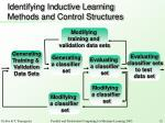 identifying inductive learning methods and control structures