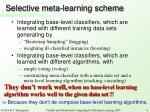 selective meta learning scheme
