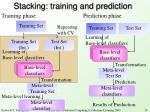 stacking training and prediction