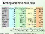 statlog common data sets