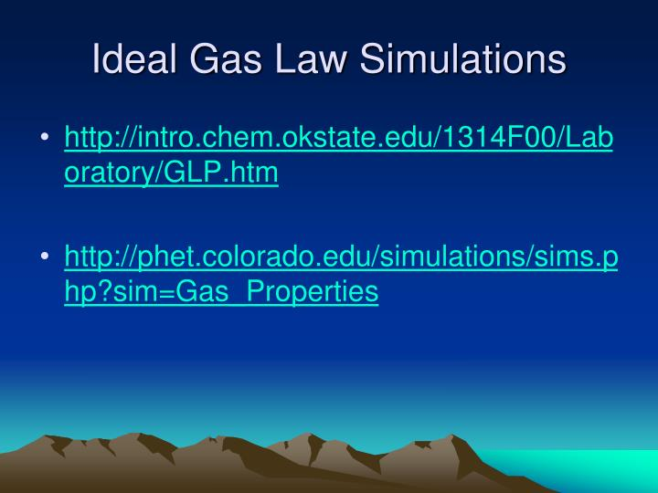 Ideal Gas Law Simulations