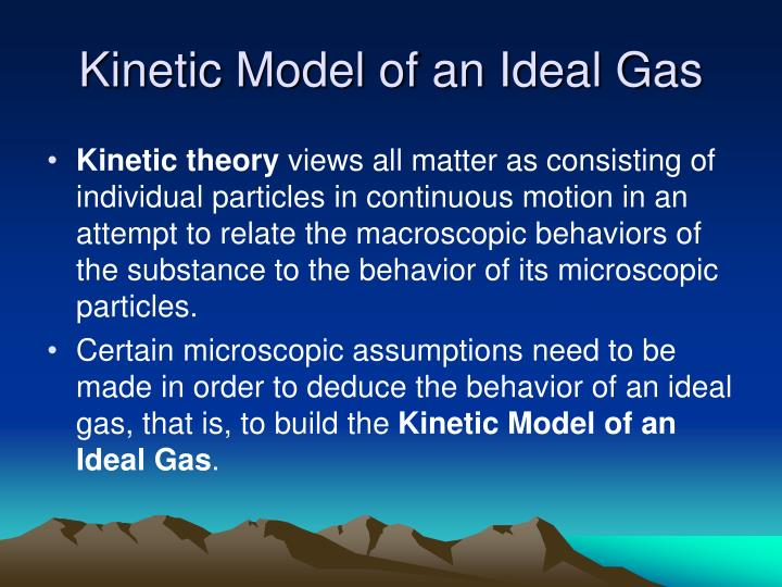 Kinetic Model of an Ideal Gas