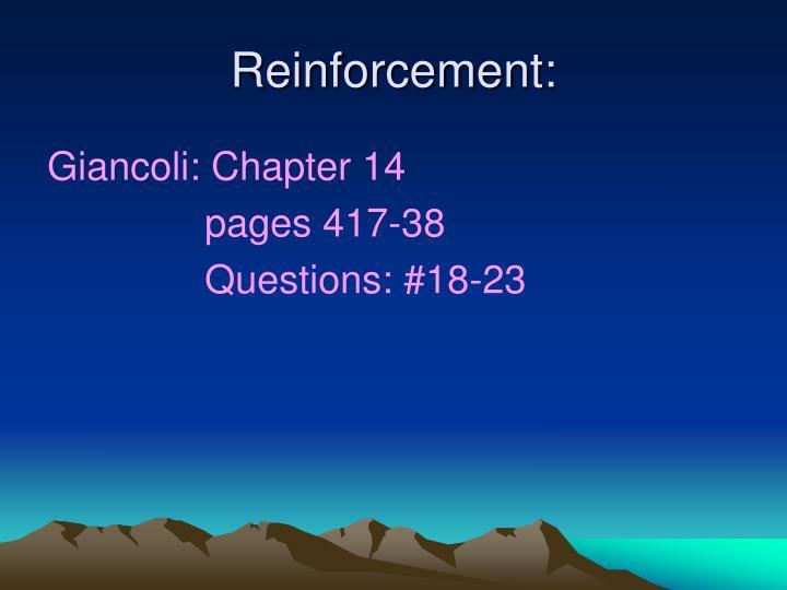 Reinforcement: