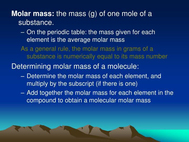 Molar mass: