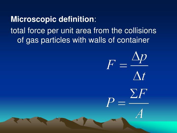 Microscopic definition