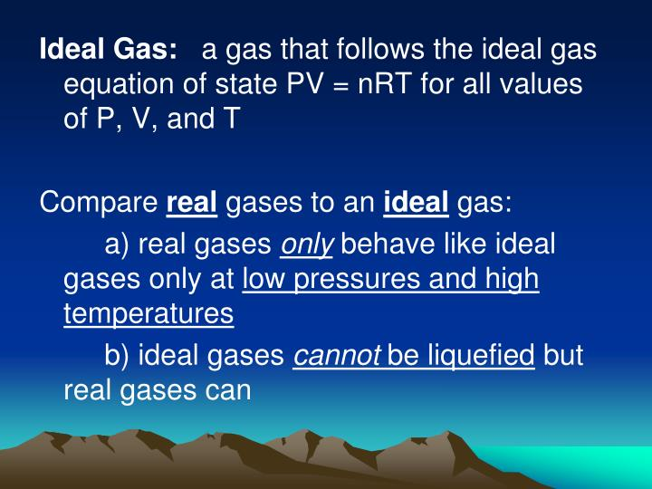 Ideal Gas: