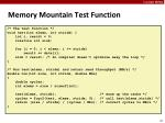 memory mountain test function