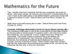 mathematics for the future