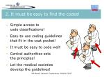 2 it must be easy to find the codes