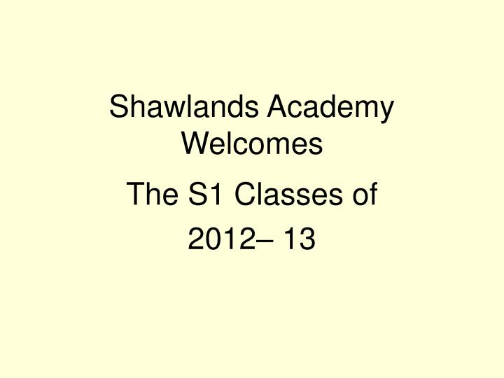 shawlands academy welcomes n.