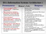 isa information systems architecture