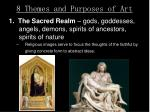8 themes and purposes of art
