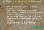 software processes and architectures 2