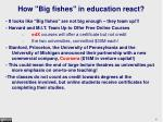 how big fishes in education react