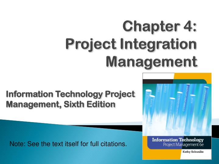 chapter 4 project integration management n.