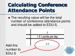 calculating conference attendance points1